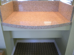 Hotel Desk Granite Remodel