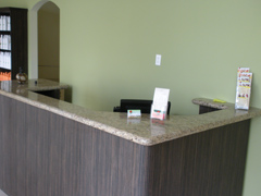 Spa Reception Granite Counter