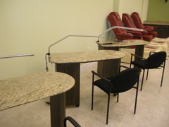 Granite Nail Salon Tech Tables Miami