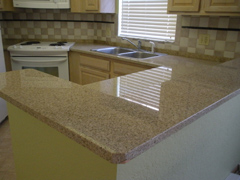 Hotel Kitchen Counter Granite Remodel