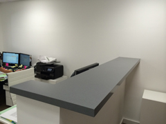 office countertop remodel in quartz, coral gables, fl