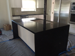Azabache Island Counter Top with Drop Down Legs