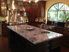 Papetti White and Black Absolute Granite Top